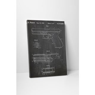 Patent Prints 'Glock Pistol' Gallery Wrapped Canvas Wall Art