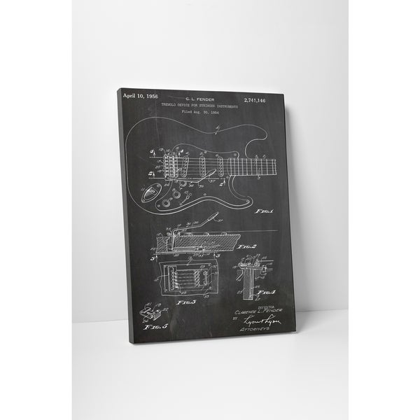 Patent Prints 'Fender Guitar Tremelo' Gallery Wrapped Canvas Wall Art