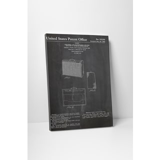 Patent Prints 'Amp and Speaker' Gallery Wrapped Canvas Wall Art