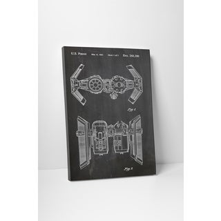 Patent Prints 'TIE Bomber' Gallery Wrapped Canvas Wall Art