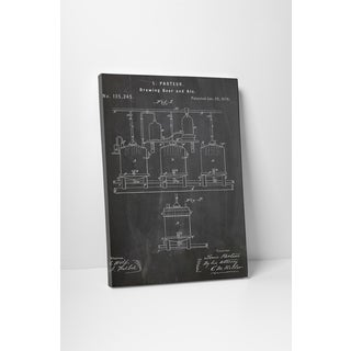 Patent Prints 'Brewing Beer and Ale' Gallery Wrapped Canvas Wall Art