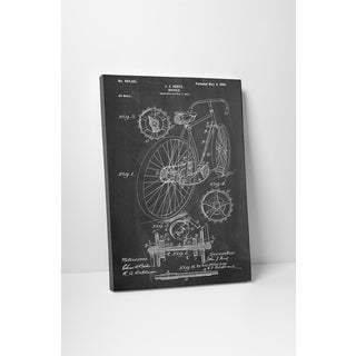 Patent Prints 'J.J. Hentz Bicycle' Gallery Wrapped Canvas Wall Art