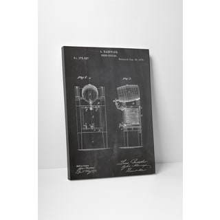 Patent Prints 'Beer Cooler' Gallery Wrapped Canvas Wall Art