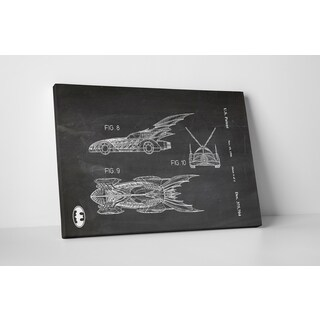 Patent Prints 'Batmobile 1996' Gallery Wrapped Canvas Wall Art