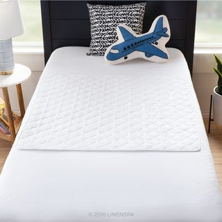 Linenspa Waterproof Sheet and Mattress Protector Pad - White