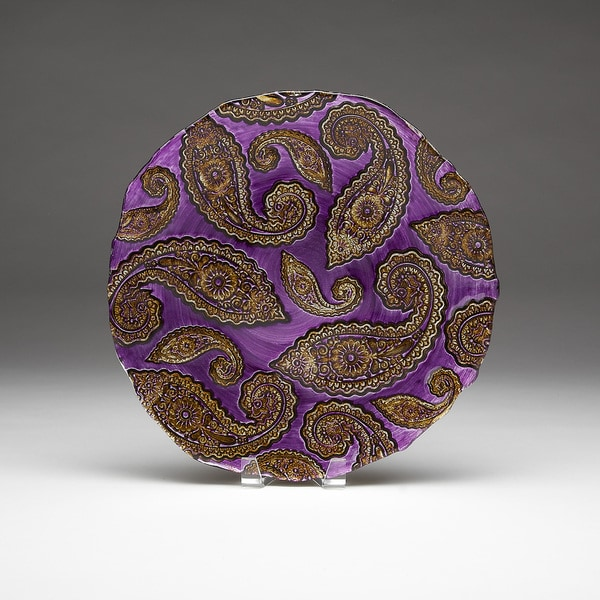 Paisley Purple/ Gold Platter