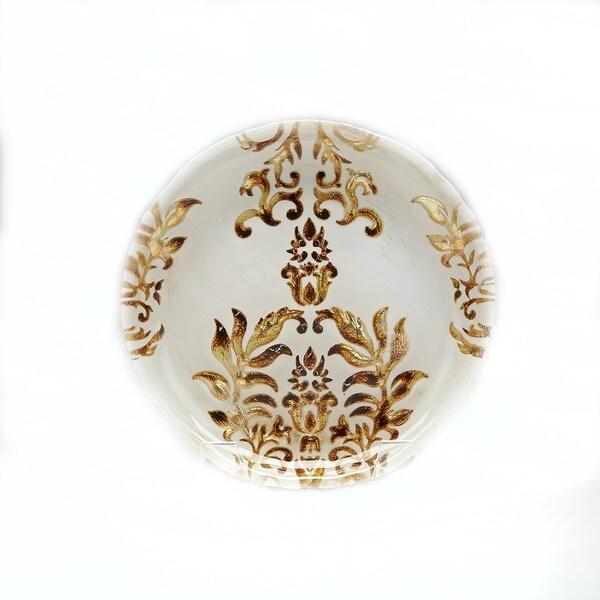 Damask Ivory/ Gold Salad Plate