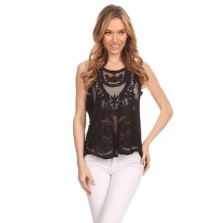 Women's Embellished Lace Top