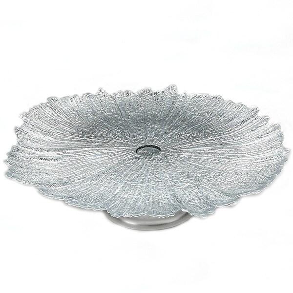 Brilliant Coral Silver Plate