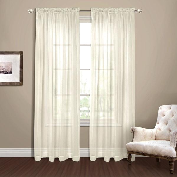 Yvonne Chiffon Extra Wide Semi-sheer Curtain Panel Pair - 18491567 ...