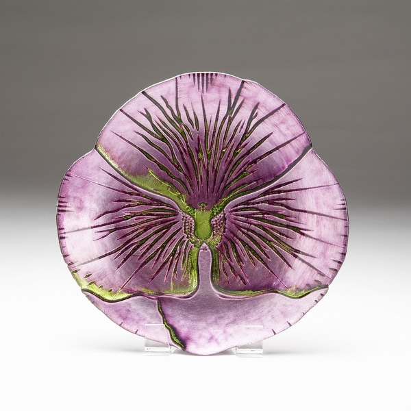 Pansy Purple/ Green Gift Boxed Side Plate