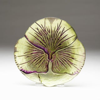 Pansy Green/ Purple Side Plate