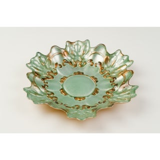Lace Gold/ Turquoise Gift Box Side Plate