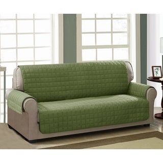 Chic Home Jonathan Box Quilted Quick Draped Green Sofa Cover