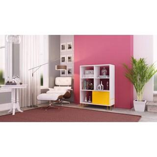 Accentuations by Manhattan Comfort Boden Mid-High 6-shelf 1-door Side Stand