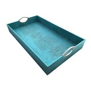 Oversized Turquoise Tray