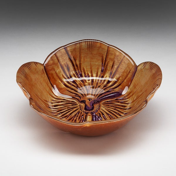Pansy Copper/ Purple Bowl