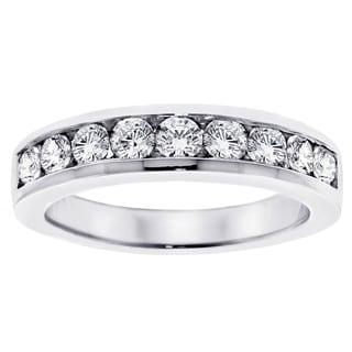 Platinum 1ct TDW Channel-set Brilliant-cut Diamond Wedding Ring (G-H, SI1-SI2)