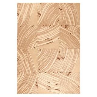 Hand-Tufted Indo Mondo Beige Rug (5'2 x 7'6)