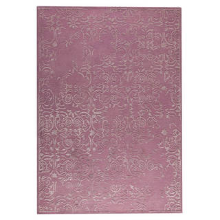 M.A.Trading Hand-Tufted Indo Illusion Pink Rug (5'6 x 7'10)