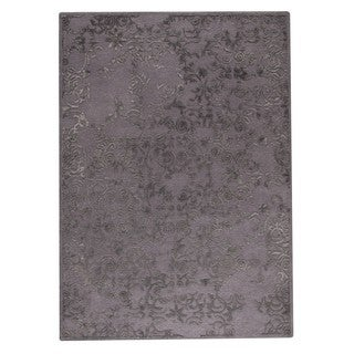 M.A.Trading Hand-Tufted Indo Illusion Grey Rug (5'6 x 7'10)