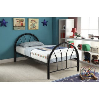 Silhouette Black Twin Bed