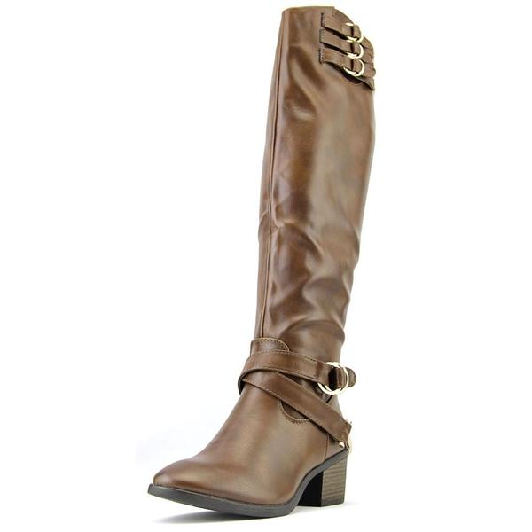 Cleopatra Women's 'Duke-52' Faux Leather Boots