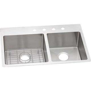 Elkay Crosstown Universal Mount Steel ECTSRO33229RBGFR2 Satin Kitchen Sink