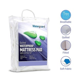 Waterguard Quilted Waterproof Mattress Pad