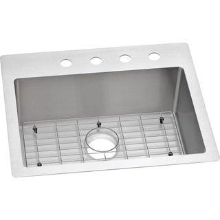 Elkay Crosstown Universal Mount Steel ECTSR25229BGFR2 Satin Kitchen Sink
