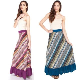 Funky Aztec Ruffled Summer Skirt (India)