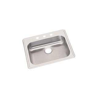 Elkay Dayton Drop In Steel GE125213 Radiant Satin Kitchen Sink