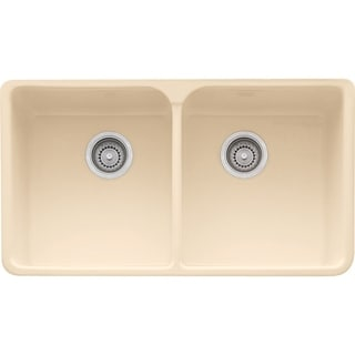 Franke Manor House Drop In/Farmhouse Fireclay MHK720-35BT Biscuit Kitchen Sink