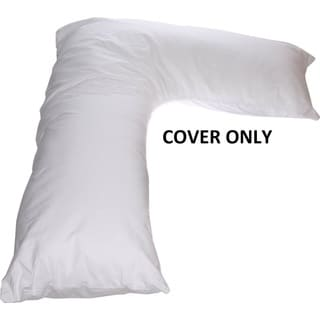 Boomerang V Side Sleeper White Pillow (Replacement Cover Only)