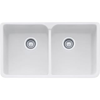 Franke Manor House Drop In/Farmhouse Fireclay MHK720-35MW White Kitchen Sink