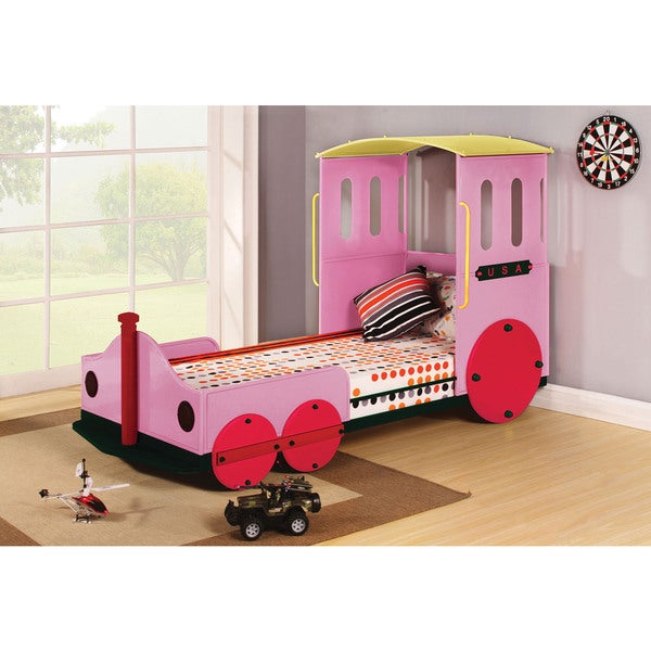 Tobi Pink Train Twin Bed