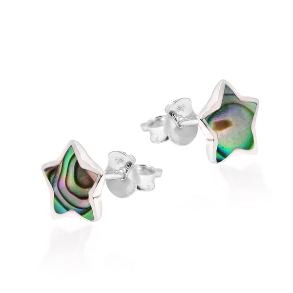 Adorable Petite Star Stone Sterling Silver Stud Earrings (Thailand)