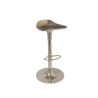 Chrome Adjustable Swivel Bar Stool (Set of 2)
