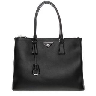 Prada Black Leather Galleria Bag