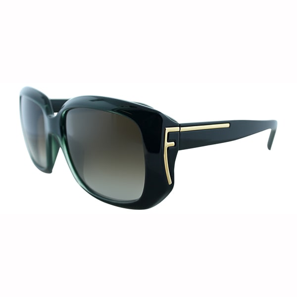 Fendi Womens FS 5327 317 Green Plastic Square Sunglasses