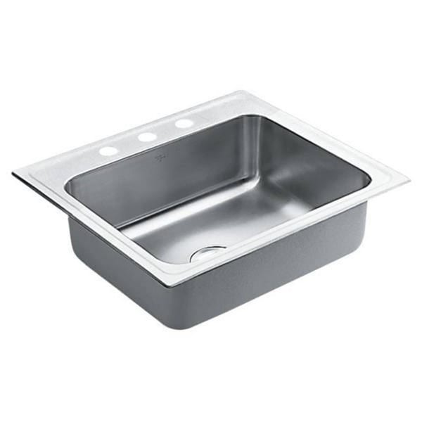 Moen Commercial Drop In Steel 22106 Satin Kitchen Sink