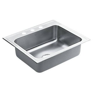 Moen Commercial Drop In Steel 22106 Satin Kitchen Sink