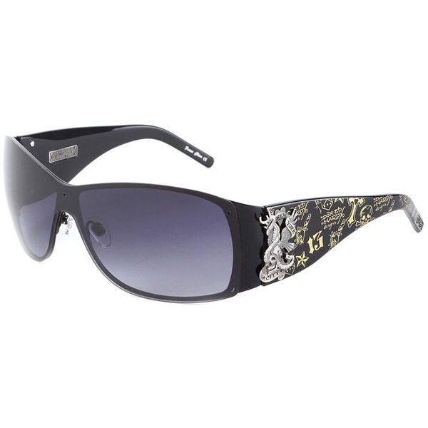 Ed Hardy Eht-907 Black Sunglasses