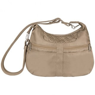 Travelon Anti-Theft Signature Multi-Pocket Hobo Handbag