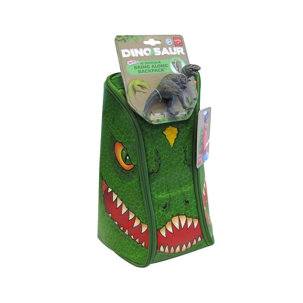 Neat-Oh ZipBin 45 Dinosaur Bring Along Backpack with 1 dinosaur (Dark Green)