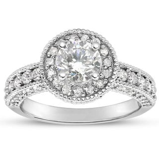 2ct TDW Classic Engagement Ring with 1 1/2ct Center Diamond In 14k White Gold (H-I, I1-I2)