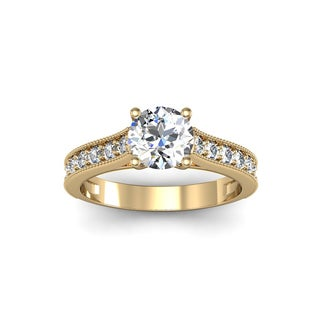 1 1/2ct TDW Solitaire Engagement Ring with 1ct Center Diamond In 14k Yellow Gold (H-I, I1-I2)