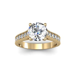 2 1/2ct TDW Solitaire Engagement Ring with 2ct Center Diamond In 14k Yellow Gold (H-I, I1-I2)