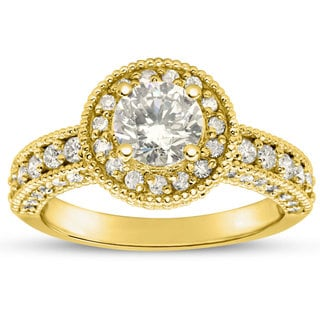 2ct TDW Classic Engagement Ring with 1 1/2ct Center Diamond In 14k Yellow Gold (H-I, I1-I2)