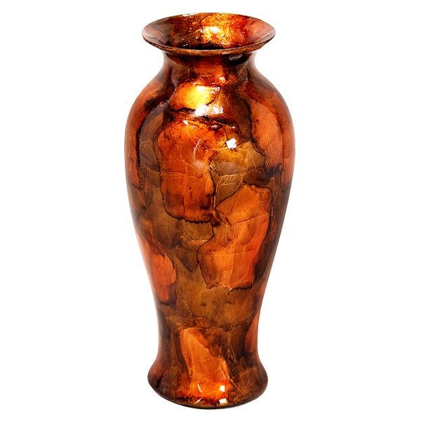 Heather Ann Round Tapered Glazed Ceramic Vase 18492706